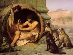 Diógenes, o cínico.