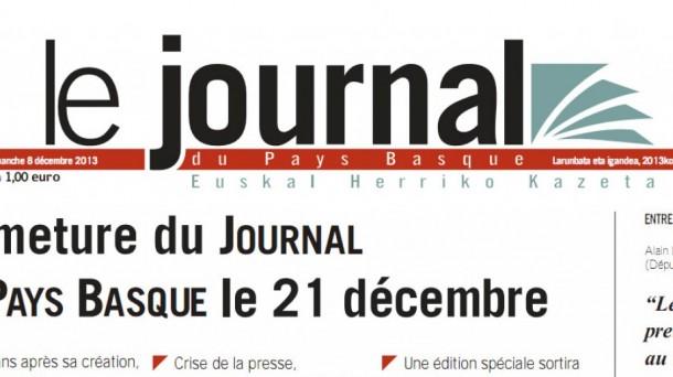 Le journal du pays basque euskal herriko kazetak atea ixten du borroka ga - Journal du pays d auge ...