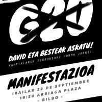 G20 Akatu! Dabid eta besteak askatu!