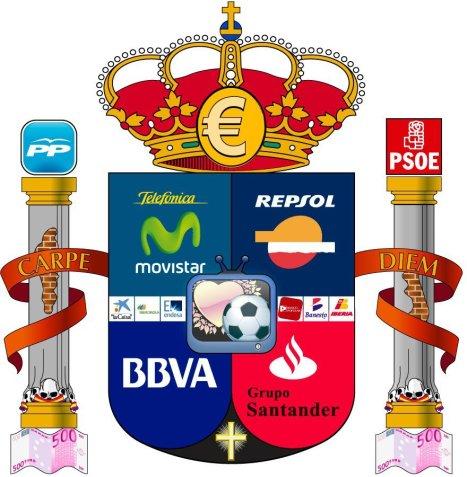 escudo-de-espac3b1a-euro-telefonica-movistar-repsol-bbva-grupo-santander