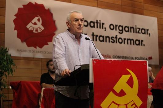 Cayo Lara, PCE, 23 de junio 2012, Conferencia Política del PCE